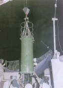 Nuclear bomb being lowered