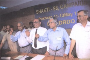 Kalam and Chidambaram after the test